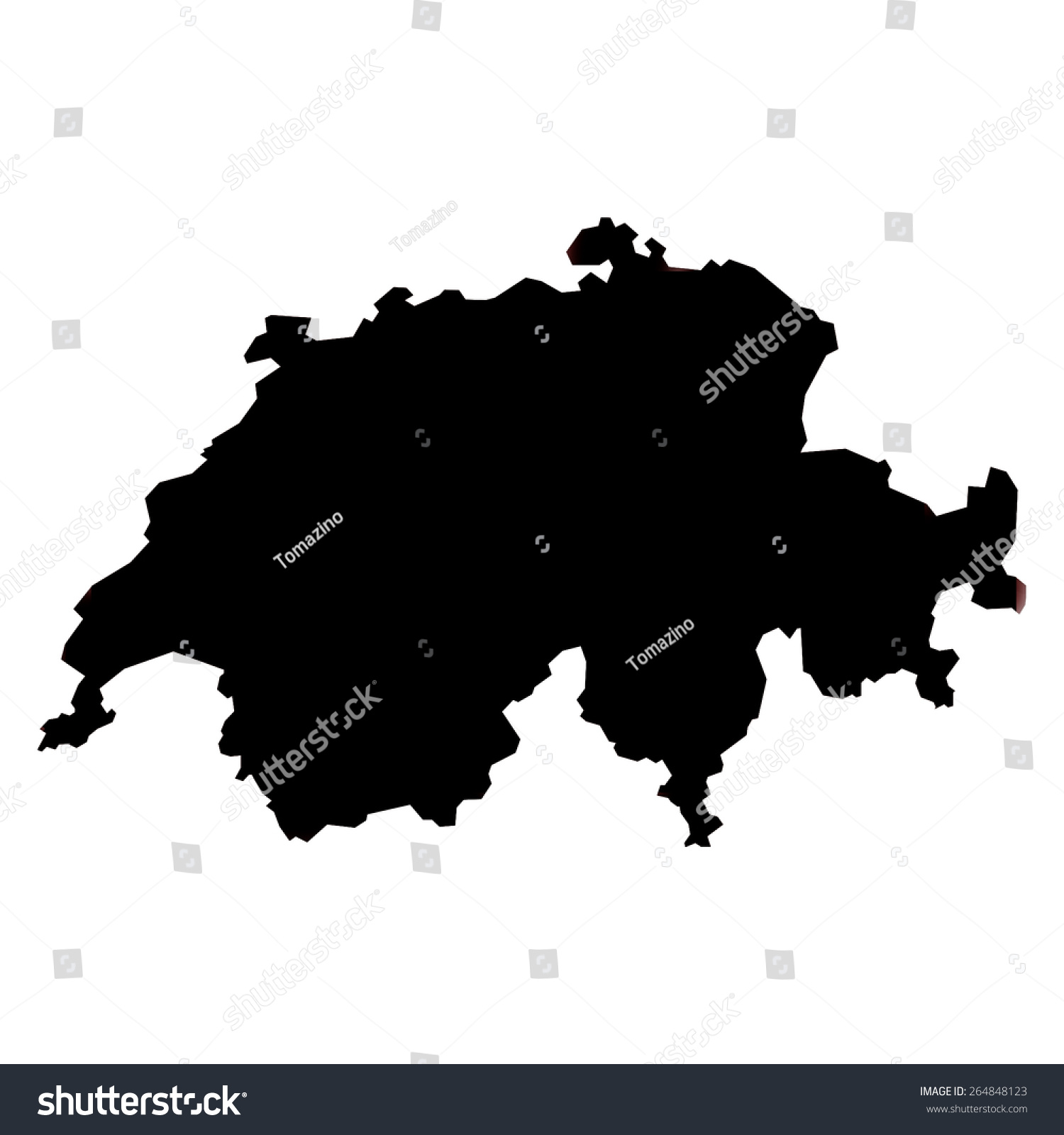 switzerland blank map
