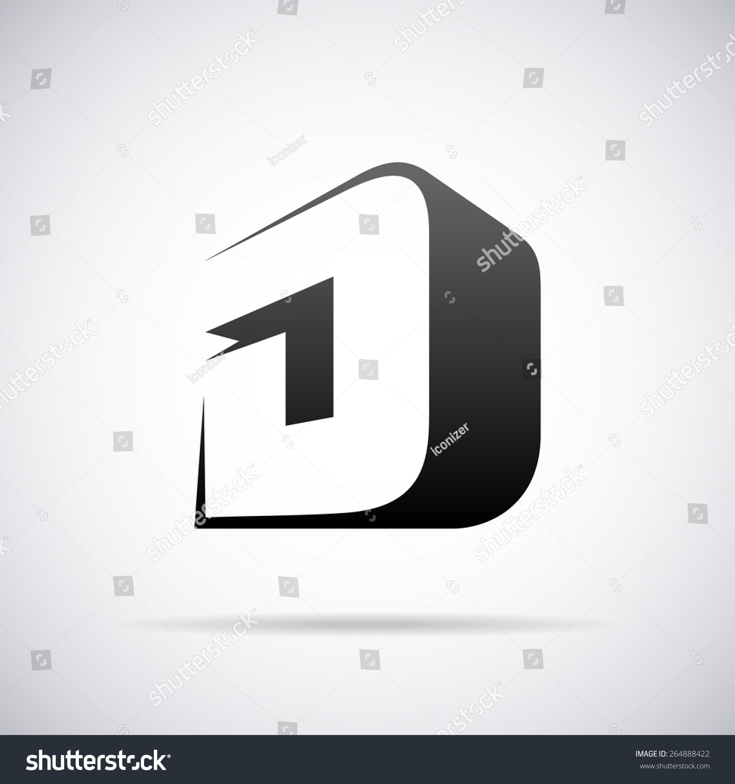 Vector logo for letter d design template 264888422 for D for design