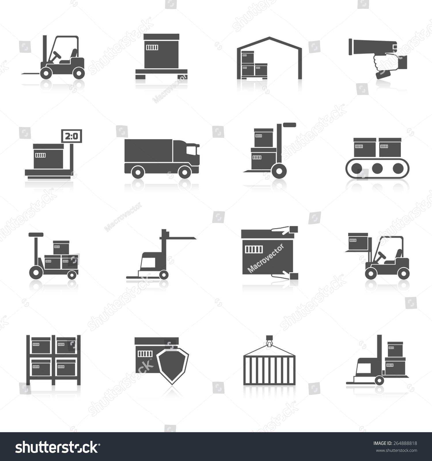 Warehouse Icons Black ...