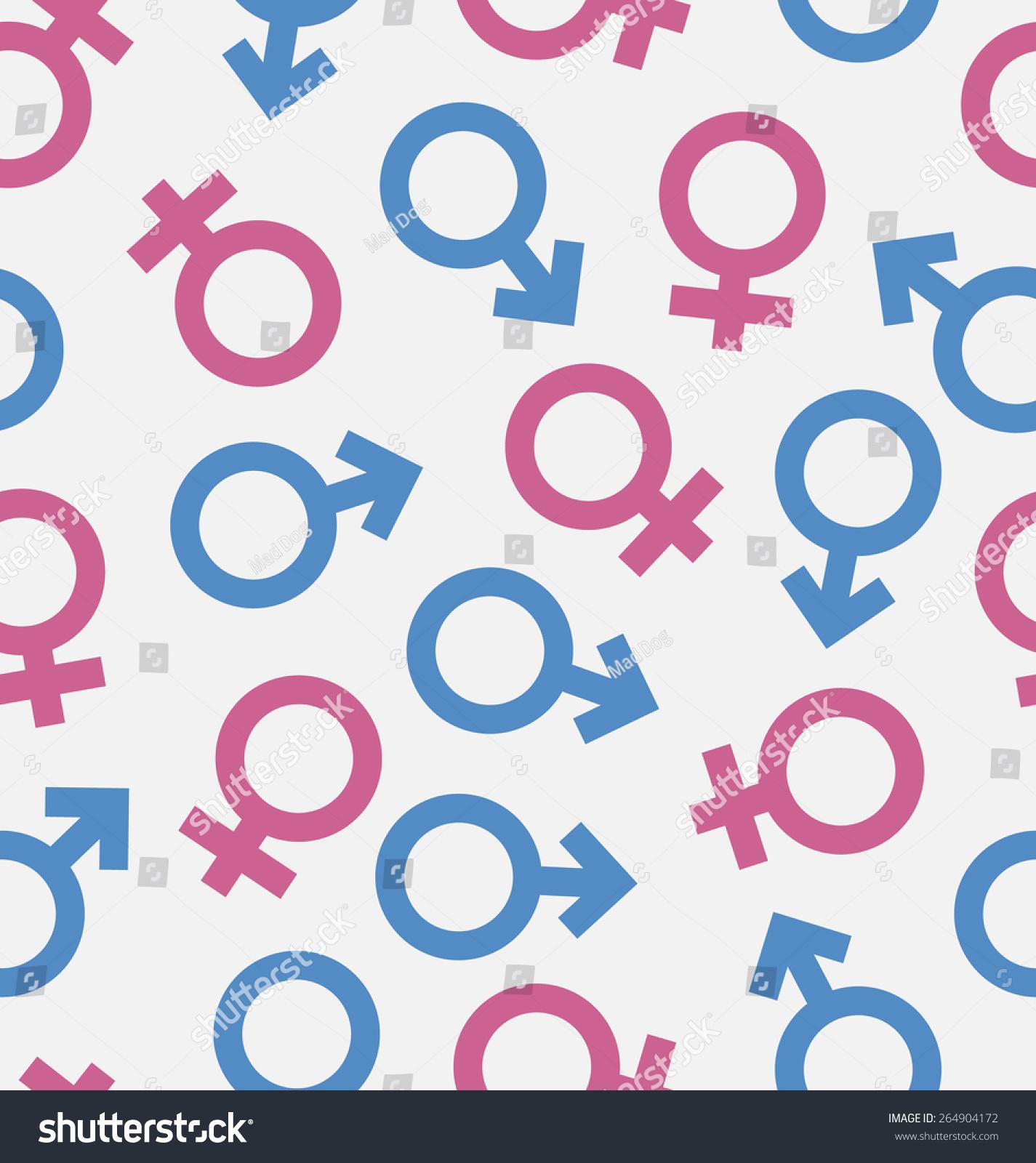 Illustration Seamless Pattern Gender Icons Wallpaper Stock Vector