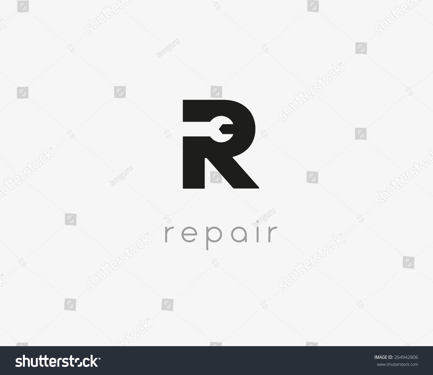 Letter r repair car phone service stock vector 264942806 for Logo drawing tool