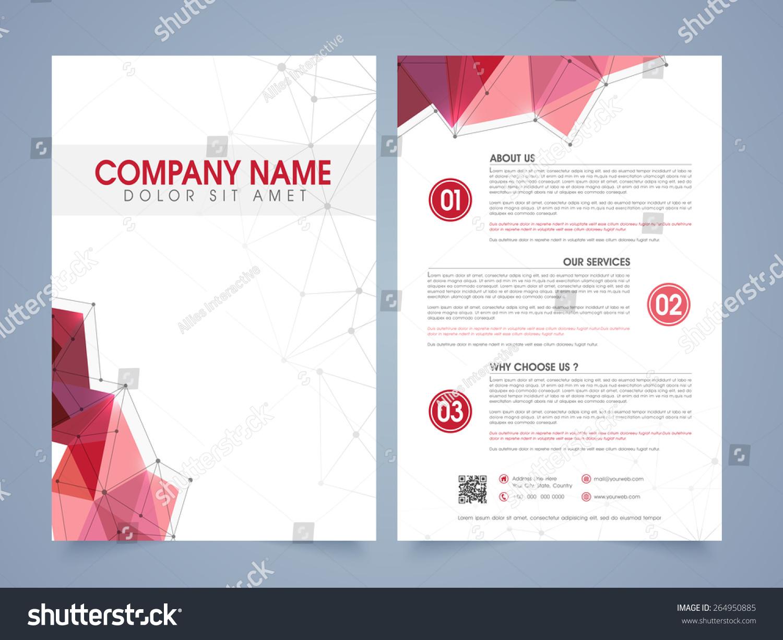стоковая векторная графика Front Back Page Presentation