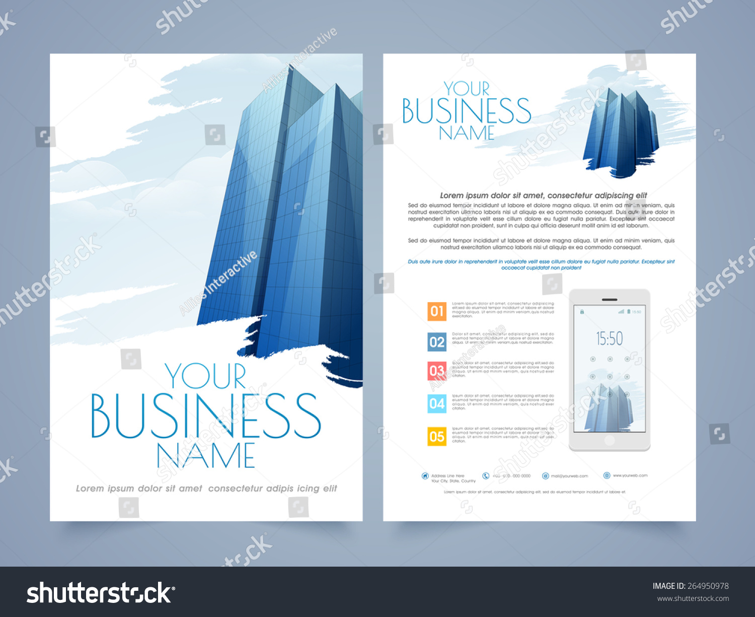 professional two page flyertemplate brochure design lager vektor professional two page flyer template or brochure design for real estate or architect purpose