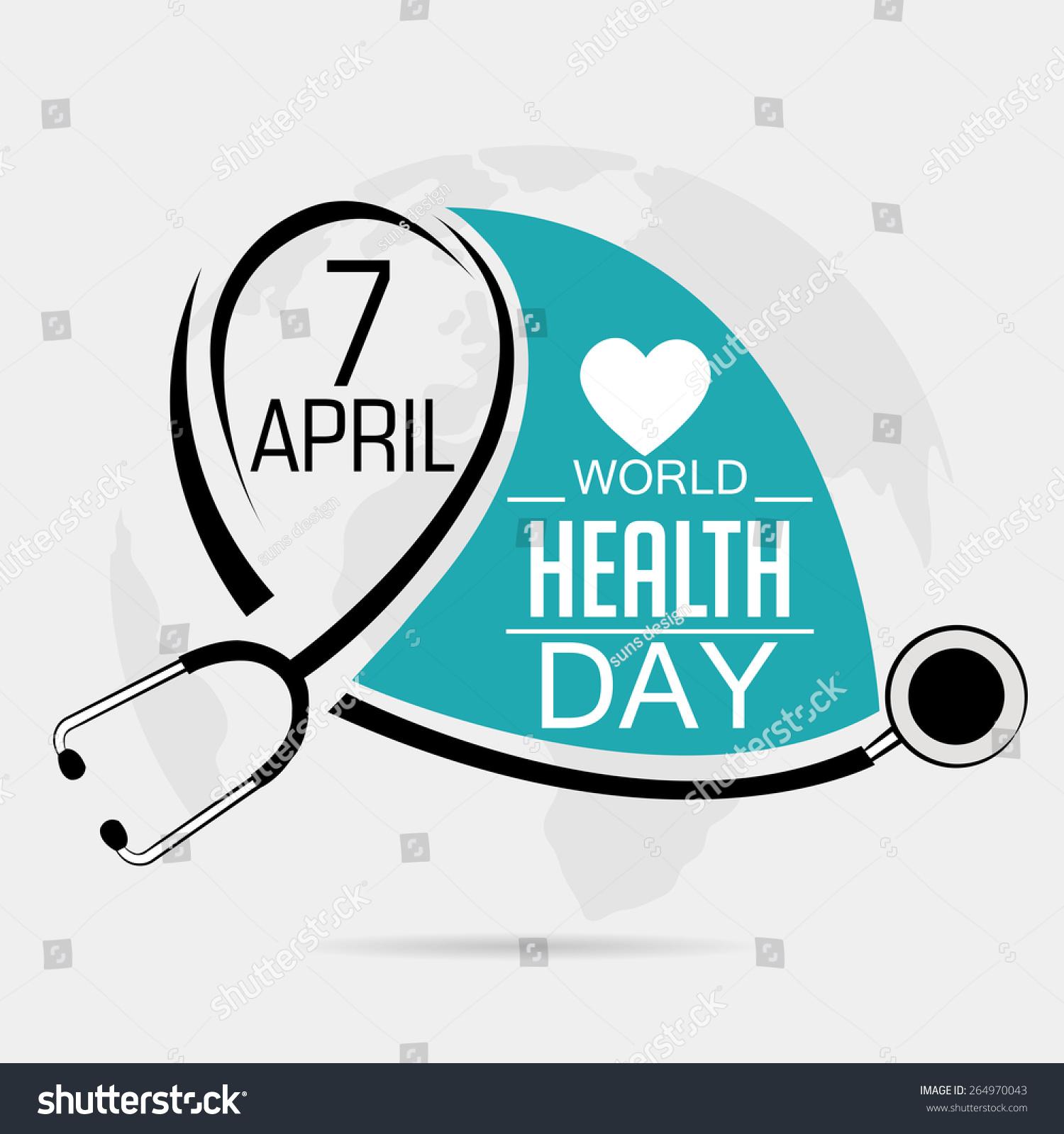 vector illustration world health day gray stock vector