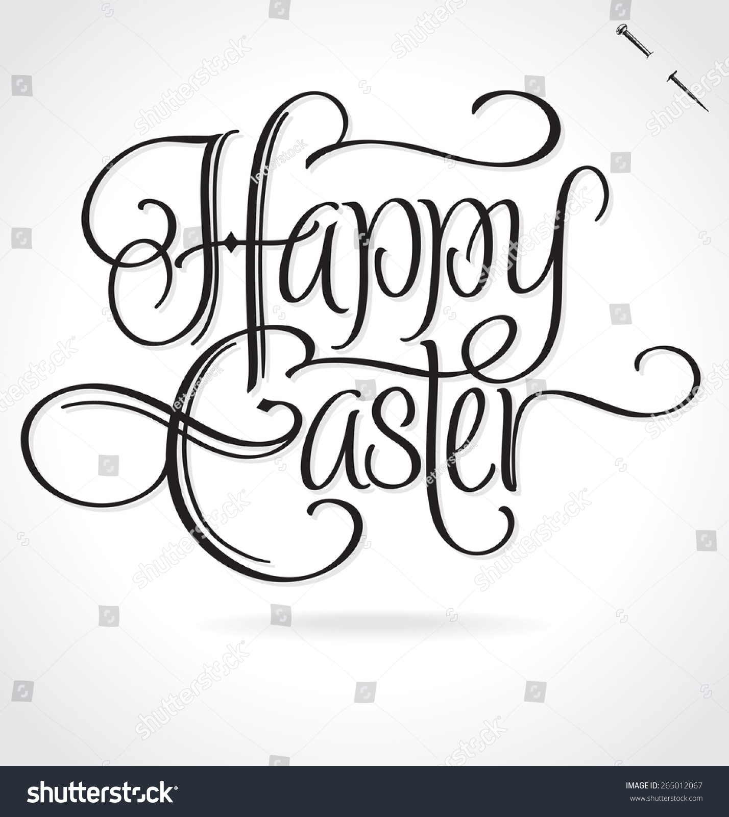 Happy easter original custom hand lettering stock vector