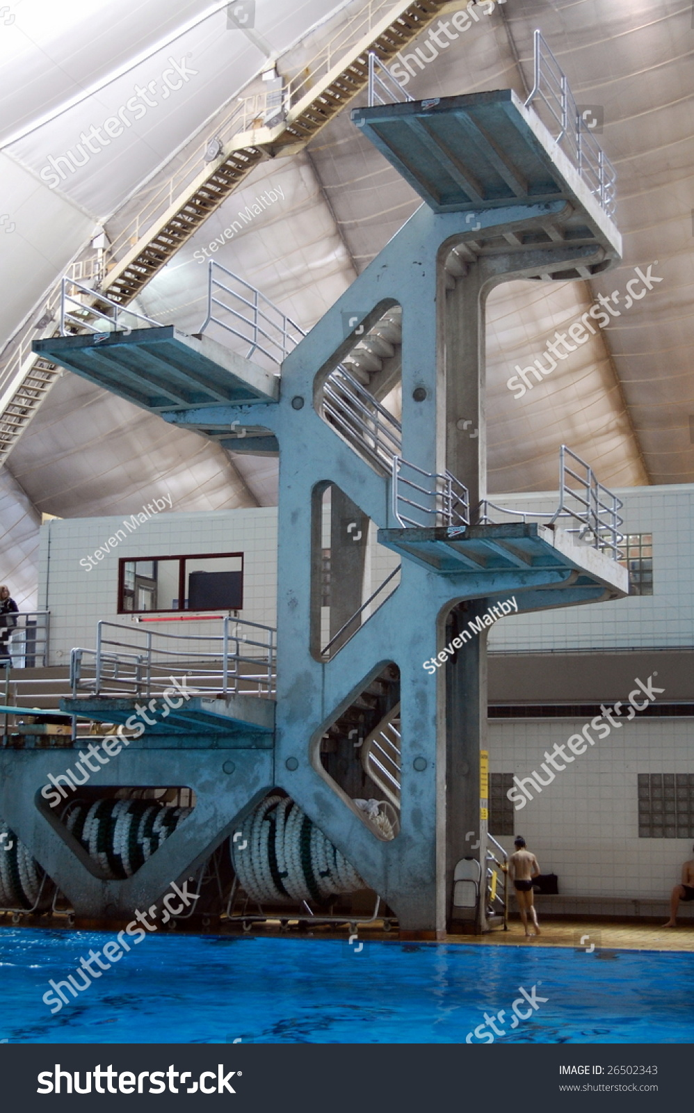 High Diving Tower Indoor Pool Calgary Stock Photo 26502343 Shutterstock