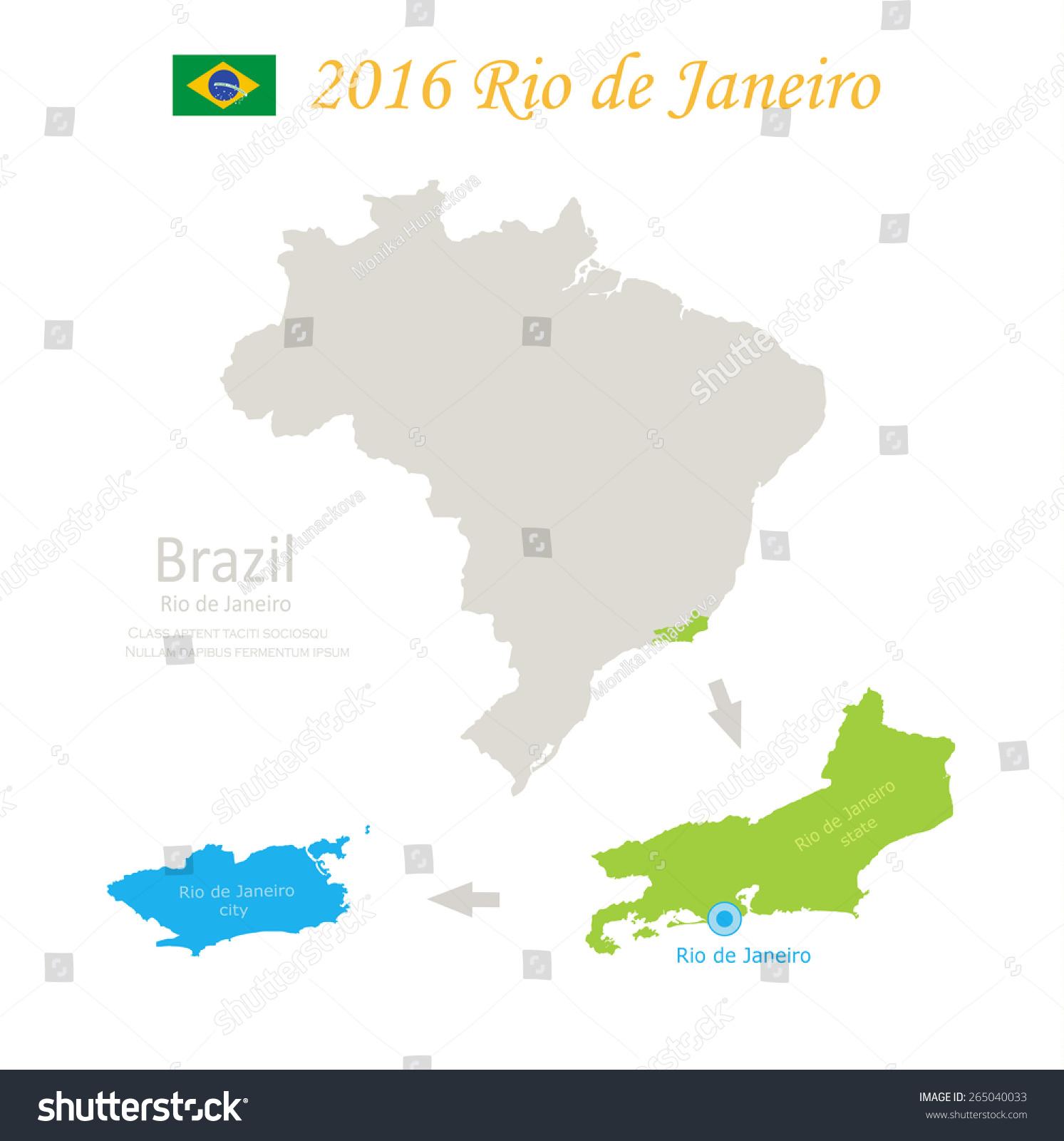 Brazil Rio De Janeiro State City Stock Vector HD Royalty Free