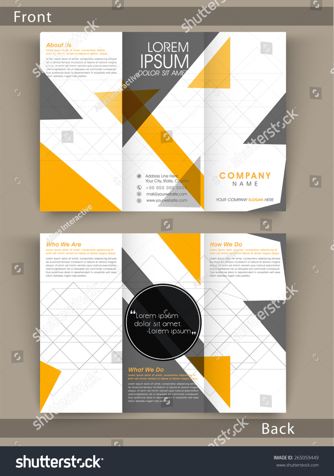 Tri fold poster template horizontal