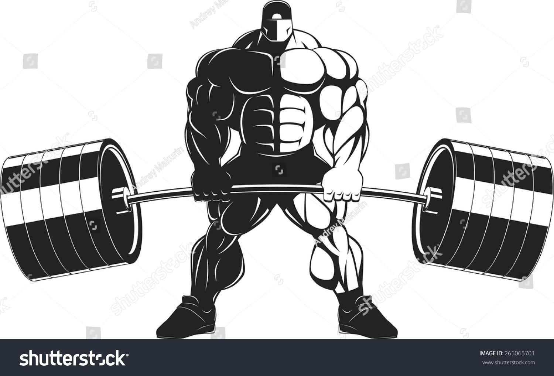 Bodybuilder Barbell Stock Vector 265065701 - Shutterstock