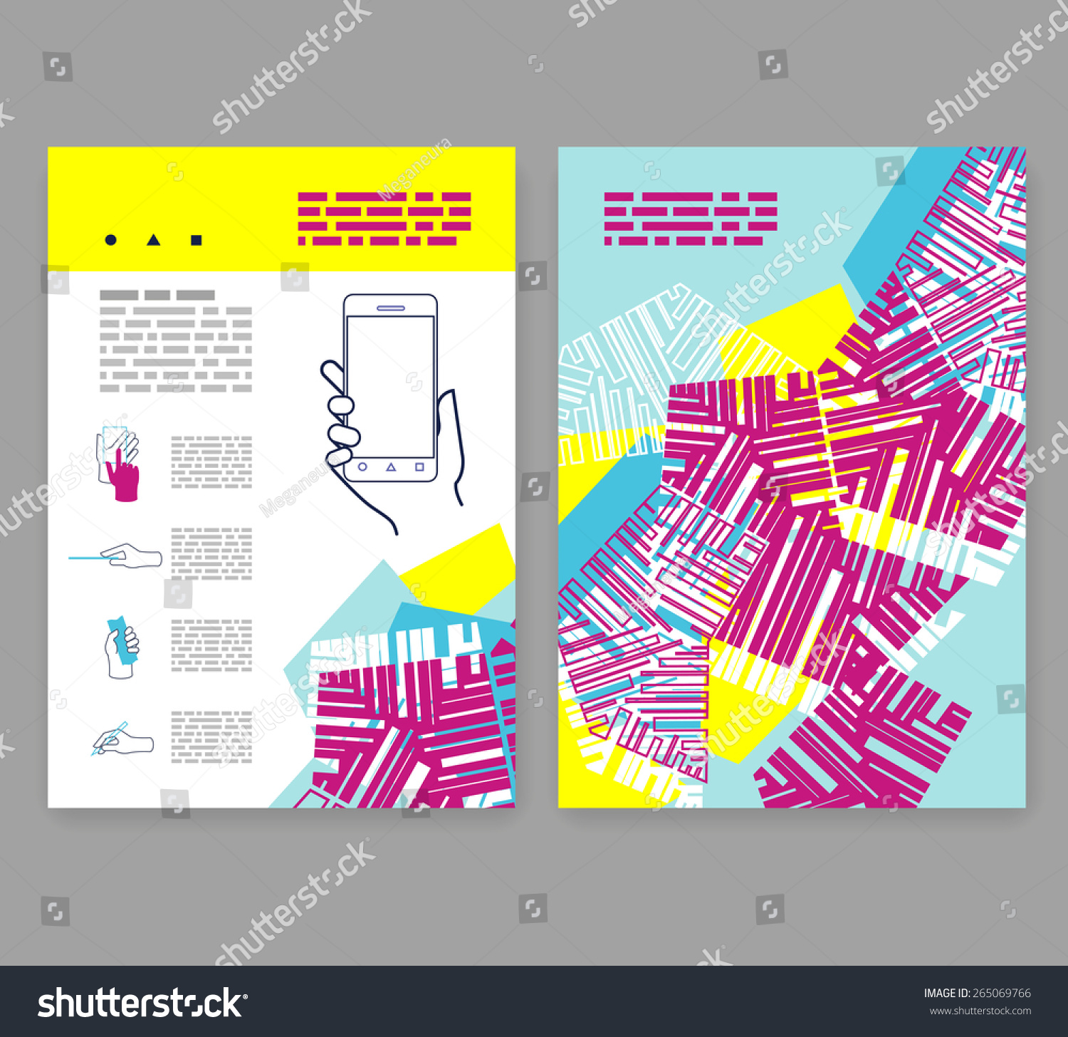Flyer leaflet booklet layout editable design stock vector for Editable brochure templates