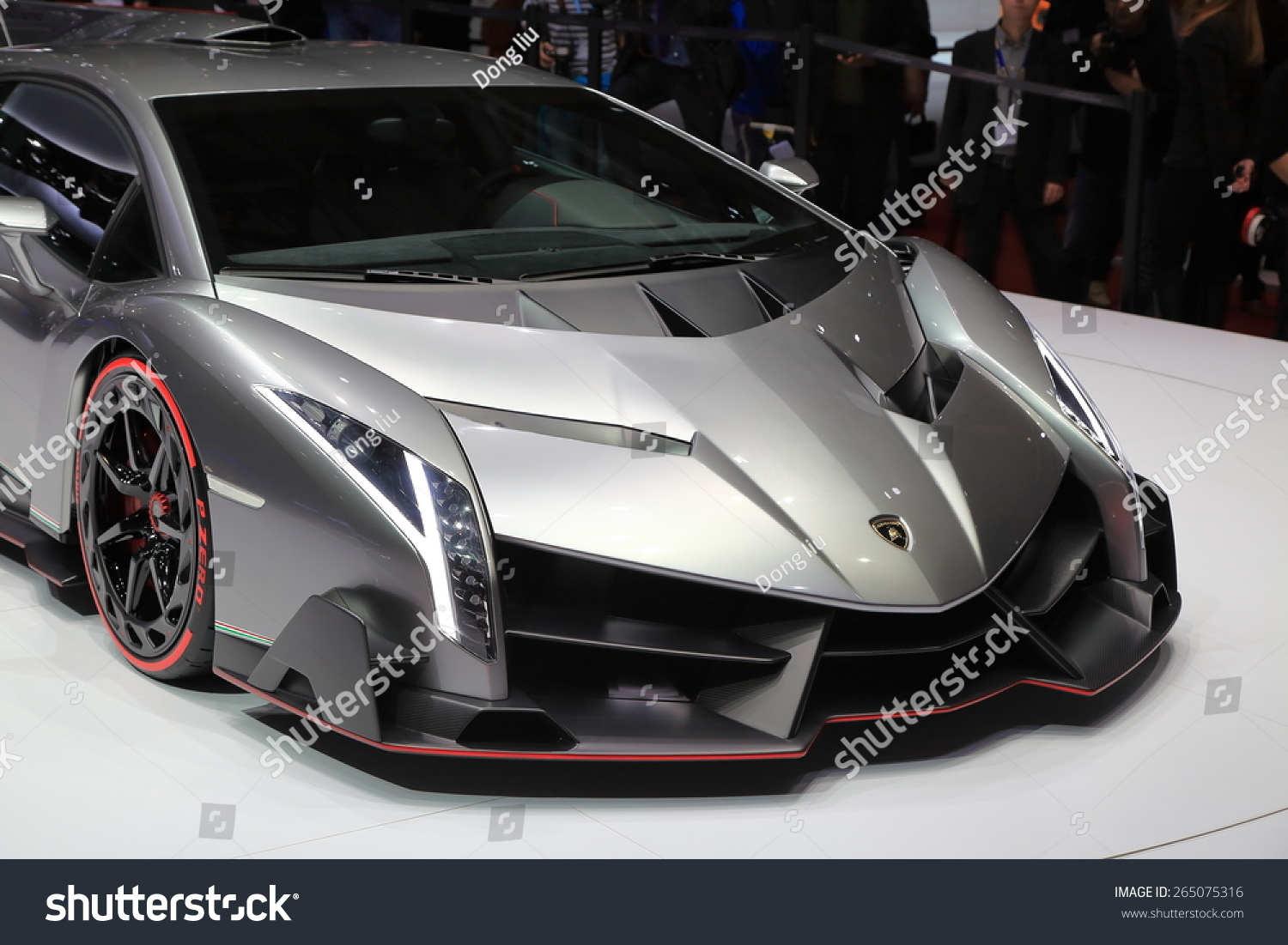 Geneva March 3 Lamborghini Veneno Roadster Stock Photo Edit Now