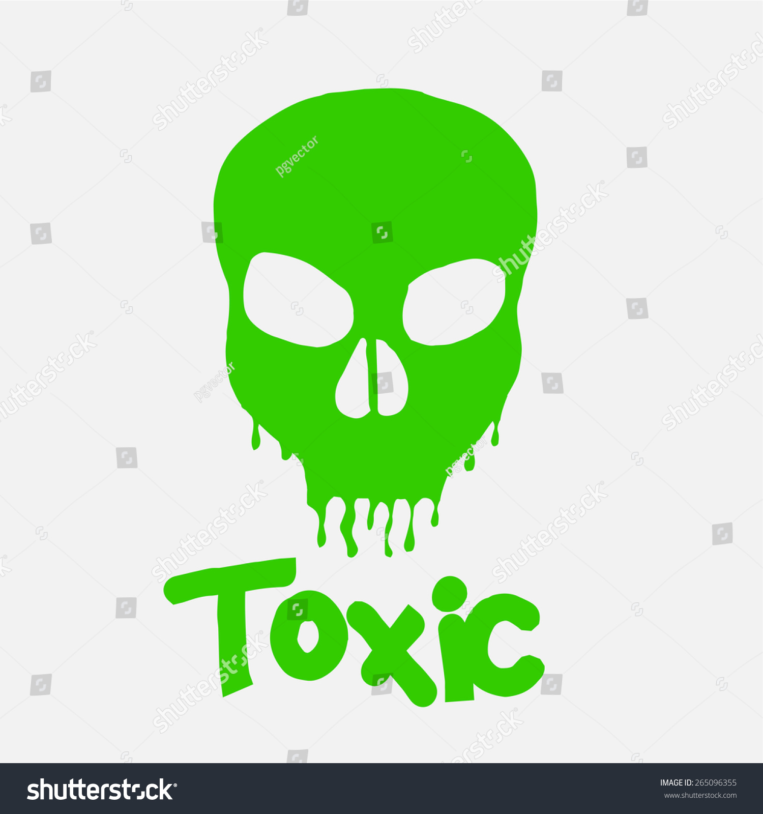 Green skull slime text over white stock vector 265096355 green skull and slime text over white color background buycottarizona Images