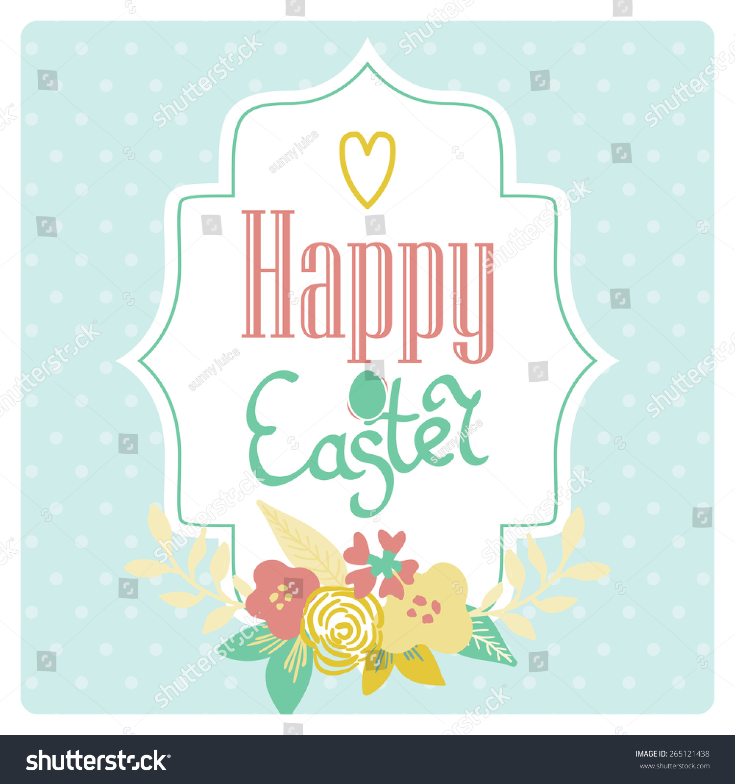 Bright Happy Easter Card Vector Easter Vector 265121438 – Happy Easter Card