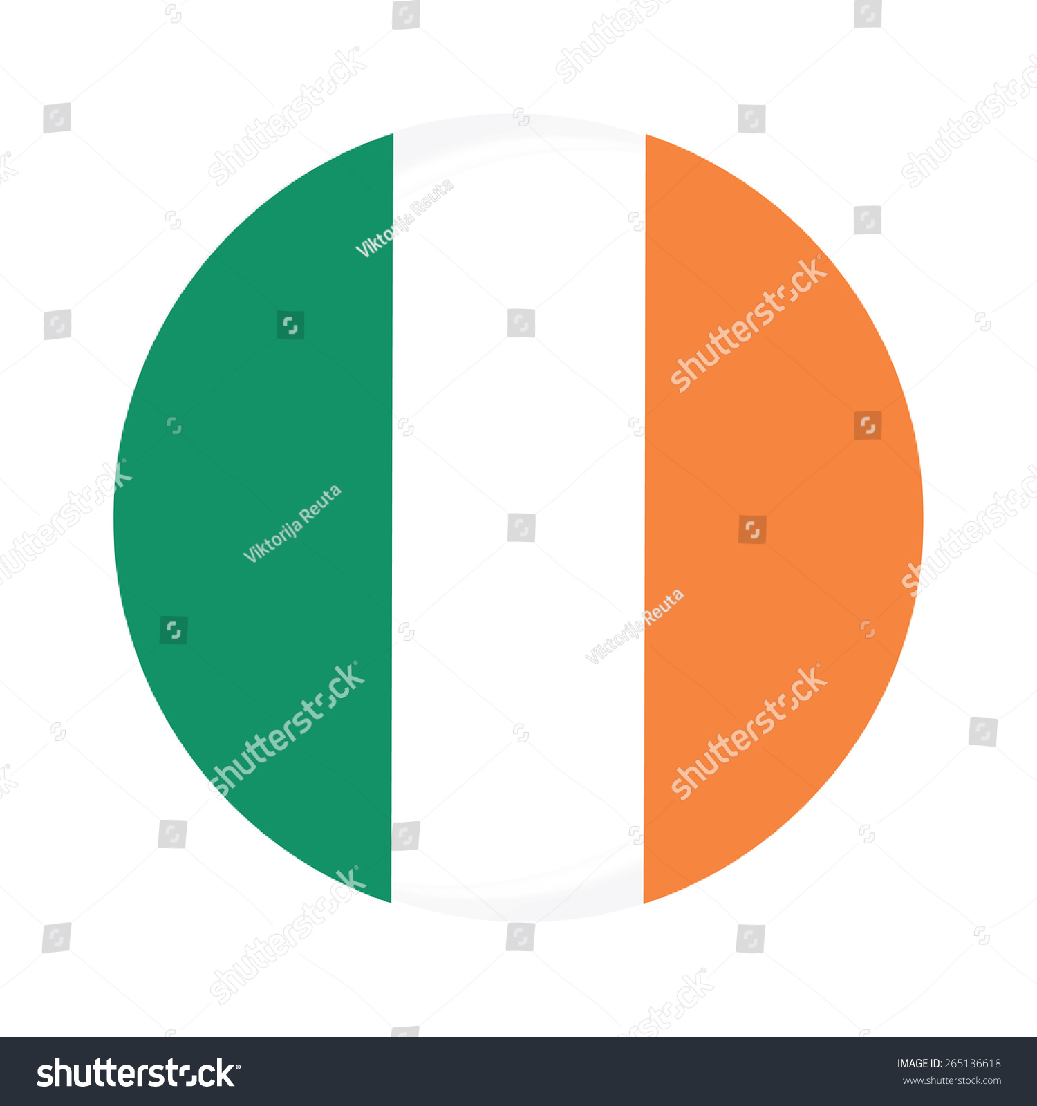 round ireland flag vector icon isolated stock vector 265136618