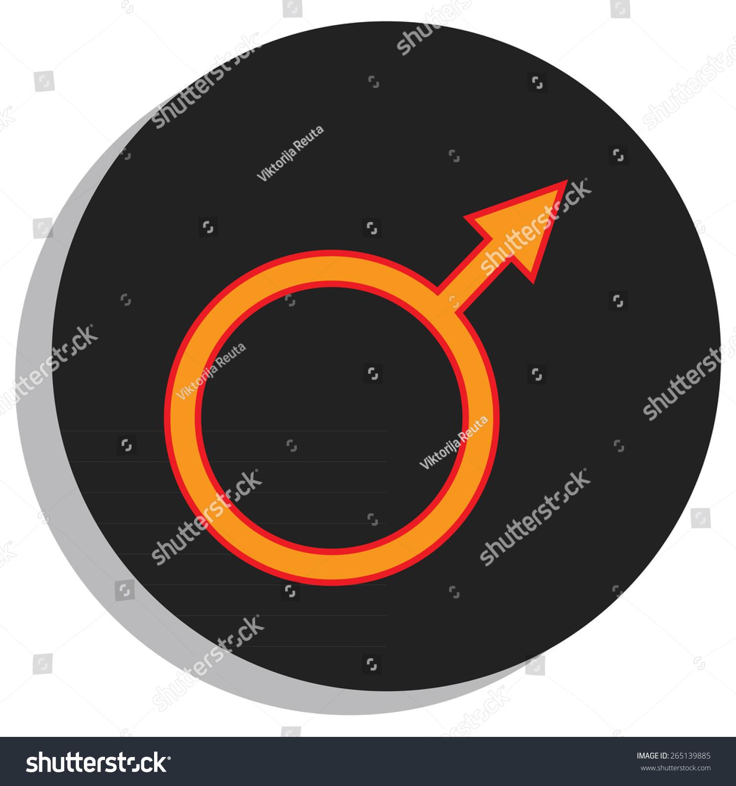 Round black orange mars symbol planet stock vector 265139885 round black and orange mars symbol planet symbol biocorpaavc Choice Image