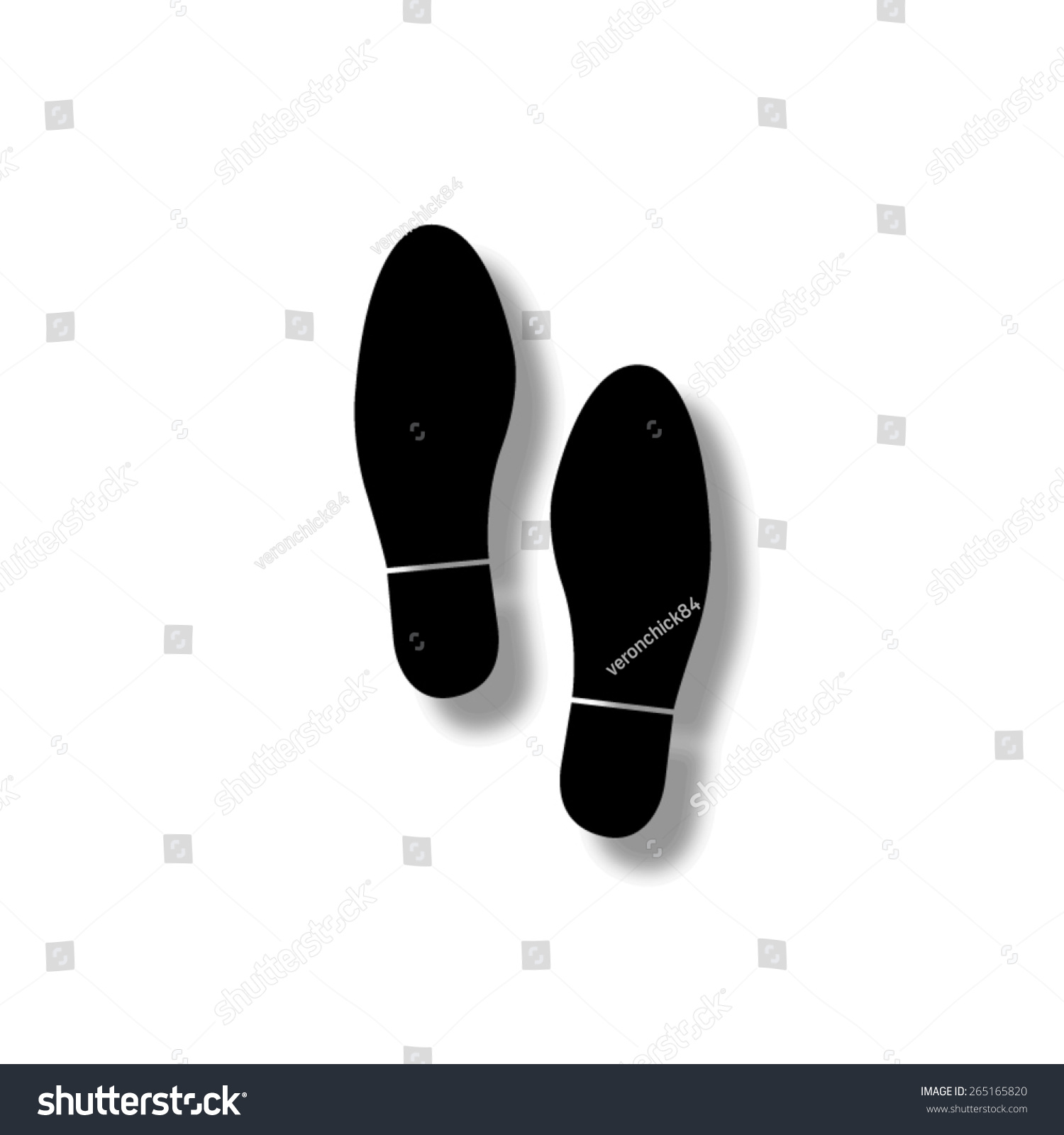 shoe print vector icon shadow stock vector 2018 265165820 rh shutterstock com running shoe print vector free shoe print vector free