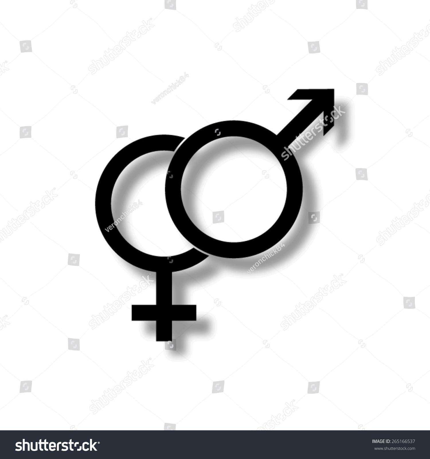 Male female symbols vector icon shadow stock vector 265166537 male and female symbols vector icon with shadow buycottarizona
