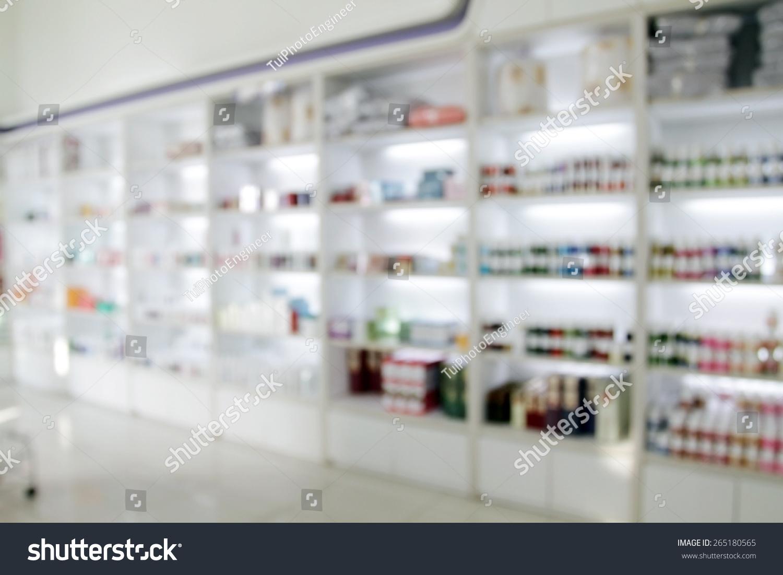 Blurry Medicine Cabinet Store Medicine Pharmacy Stock Photo ...