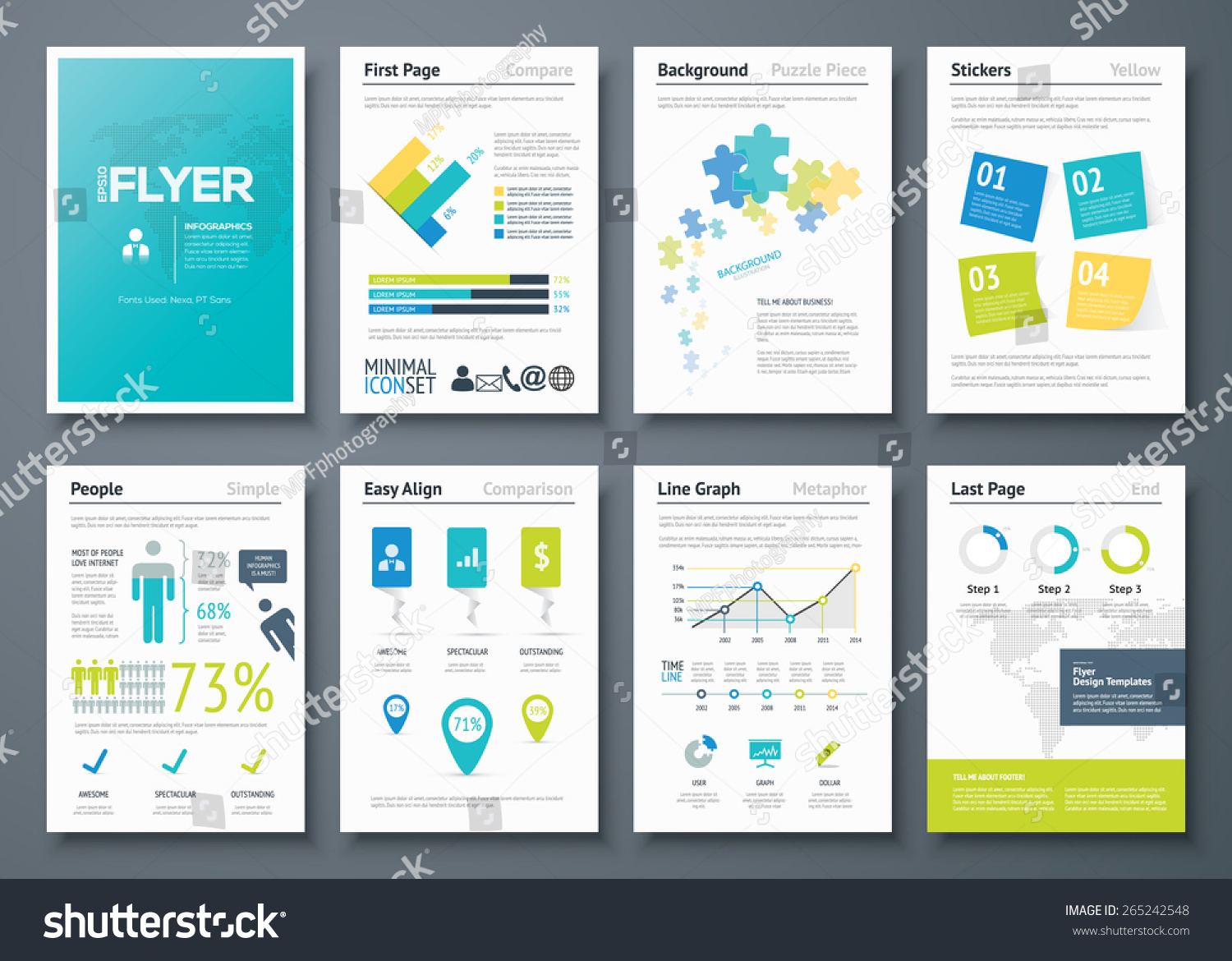 infographic flyer templates business vector elements stock vector infographic flyer templates and business vector elements use in website corporate brochure advertising
