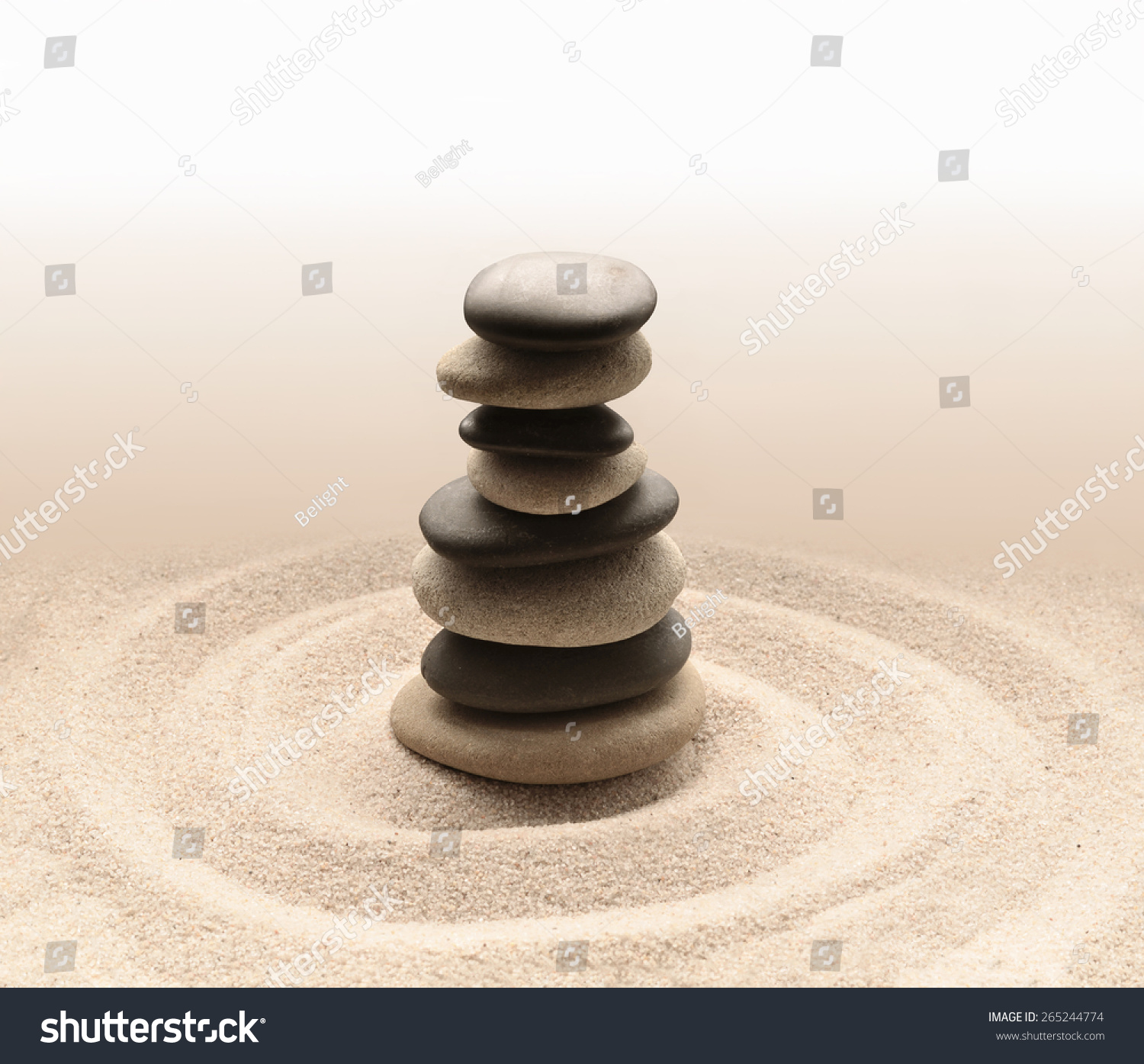 zen garden meditation stone for concentration and relaxation sand and rock for harmony and. Black Bedroom Furniture Sets. Home Design Ideas