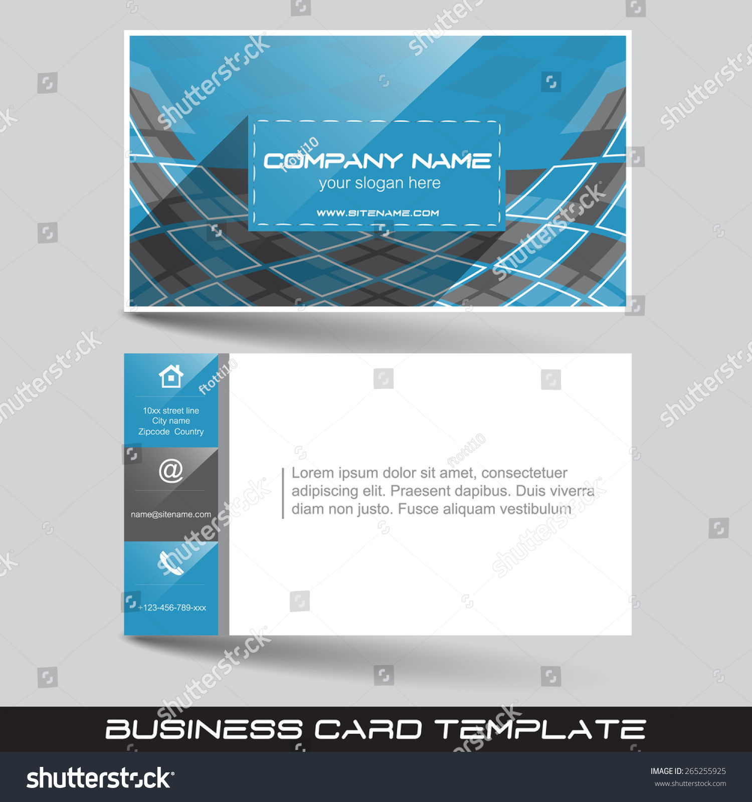 Business card template front back sidedesign stock vector royalty business card template with front and back sidedesign for your working or personal presentation accmission Image collections