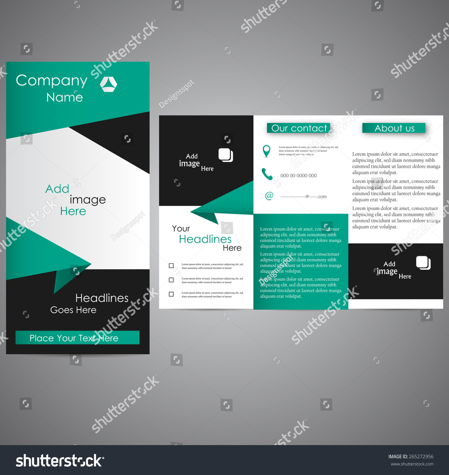 royalty professional business three fold flyer  professional business three fold flyer template corporate brochure or cover design can be use