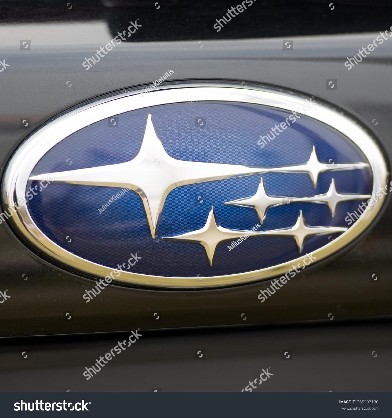 Kaunas March 26 Subaru Sign Close Up Stock Photo Edit Now
