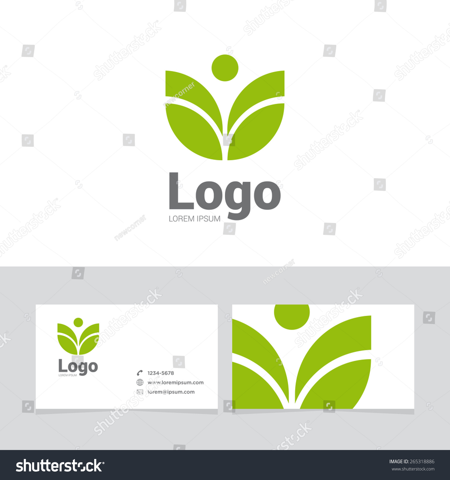 Logo Design Element Two Business Cards Stock Vector 265318886 ...