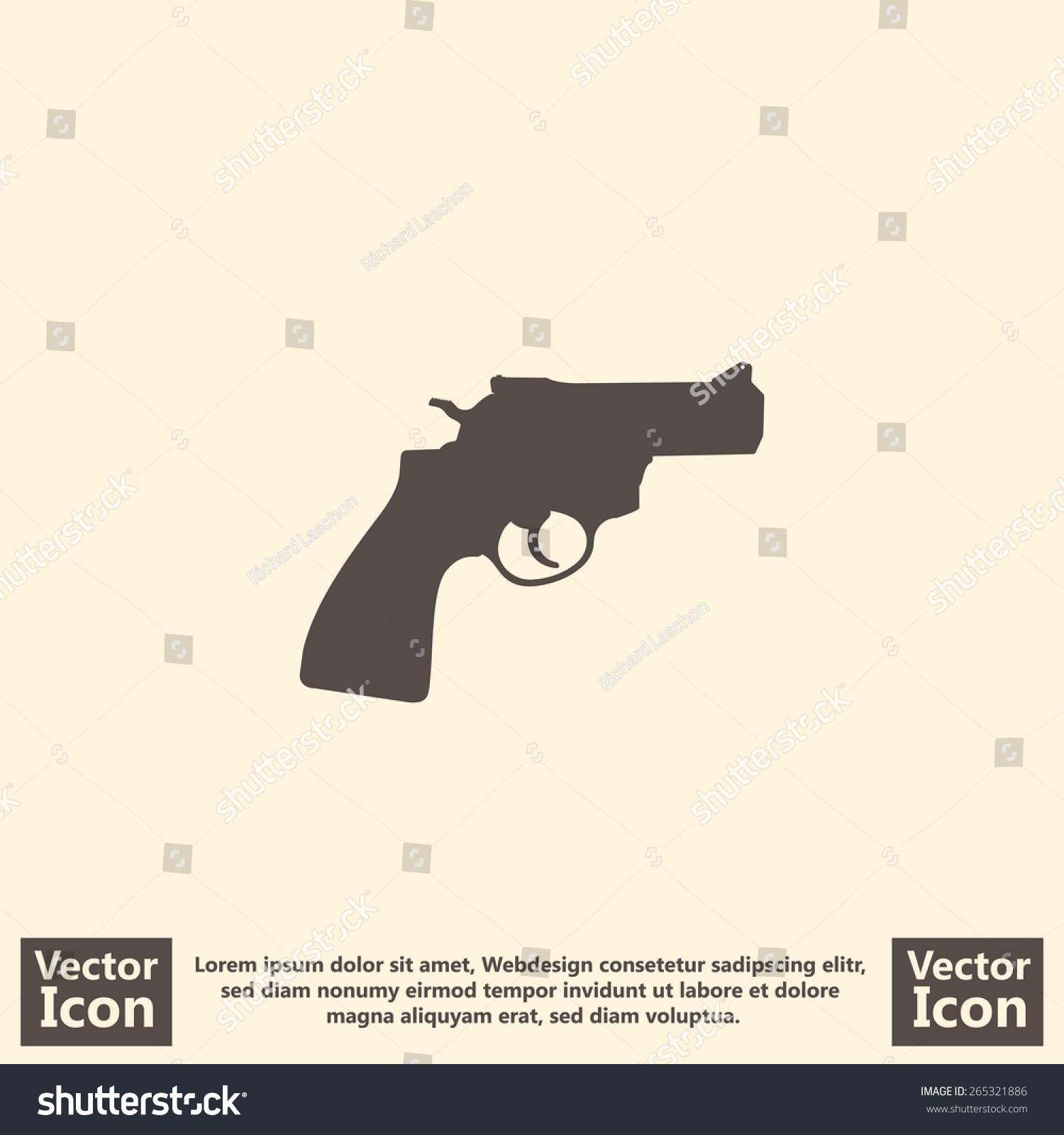 Pistol text symbol gallery symbol and sign ideas pistol text symbol choice image symbol and sign ideas flat style icon pistol symbol stock vector buycottarizona