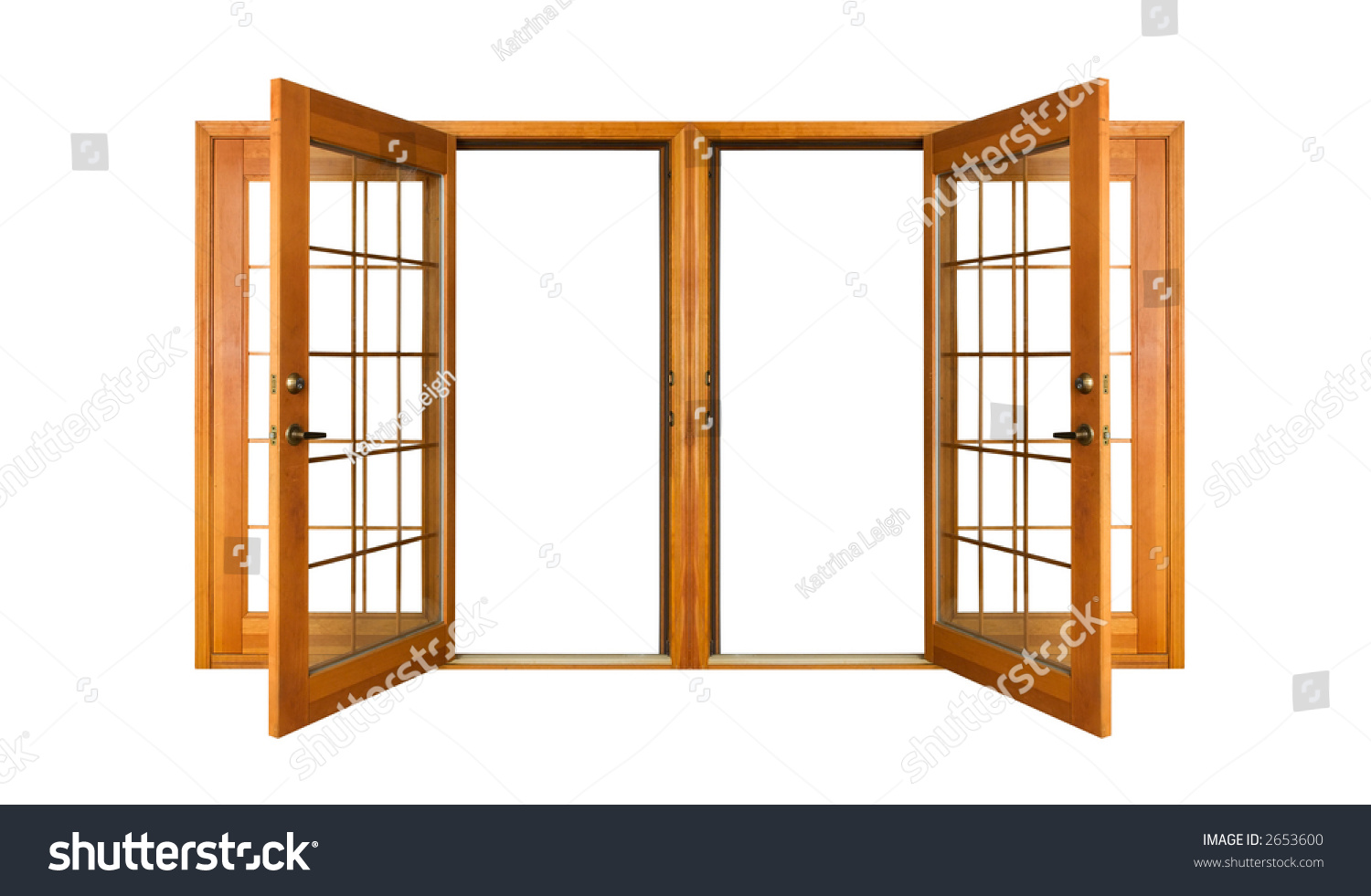 Open french doors isolated on white stock photo 2653600 for French doors that both open