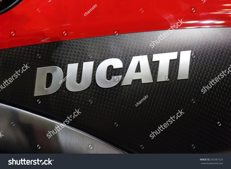 Mumbai India February 11 2018 Close Up Logo Of Ducati L Ducati
