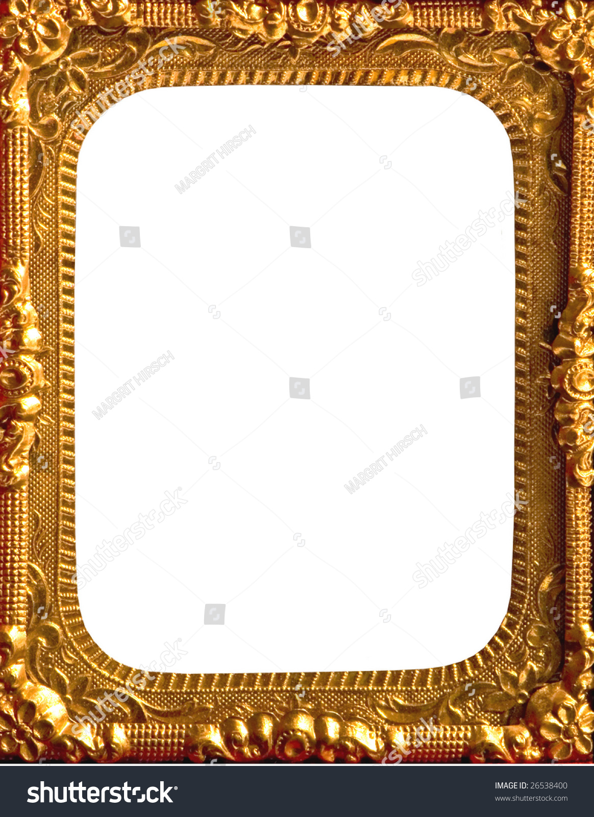 vintage ornate gold metal frame