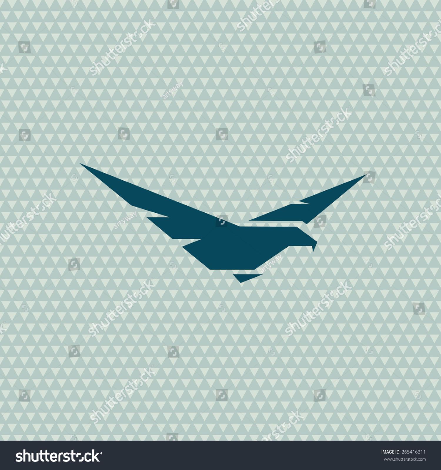 Bird Eagle Logo. Vector Abstract Pattern. Grid Seamless