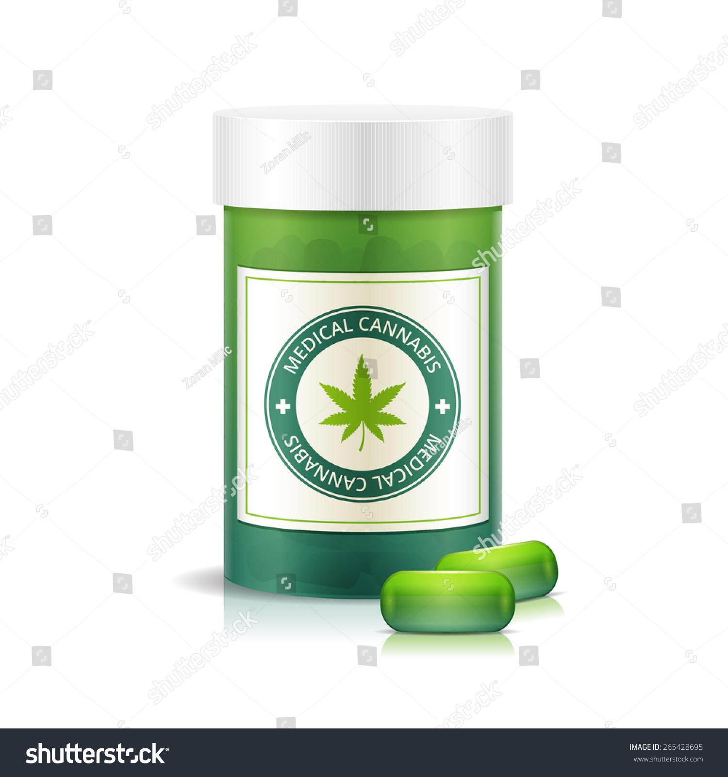 pill bottle medical pills vector stock vector
