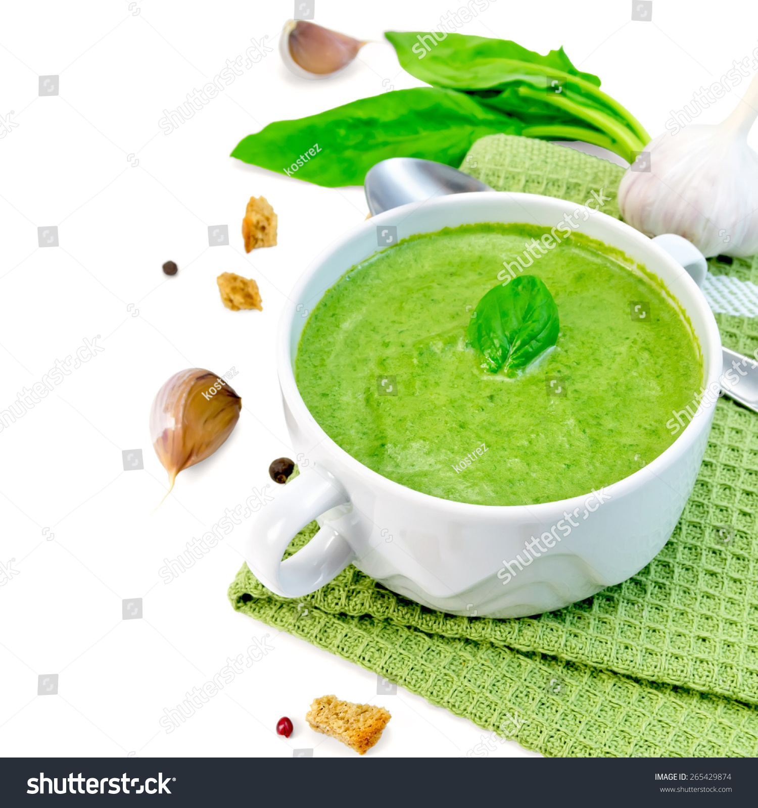 ... pea soup with challah croutons spinach soup with garlic thyme croutons