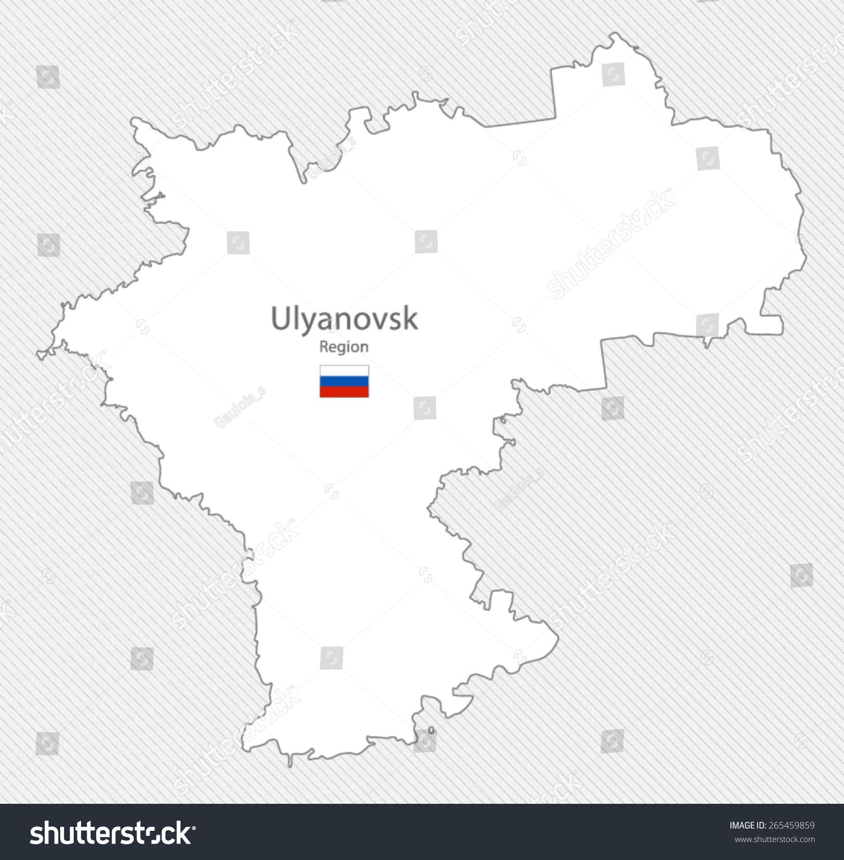 Map Ulyanovsk Region Russia Stock Vector 265459859 Shutterstock
