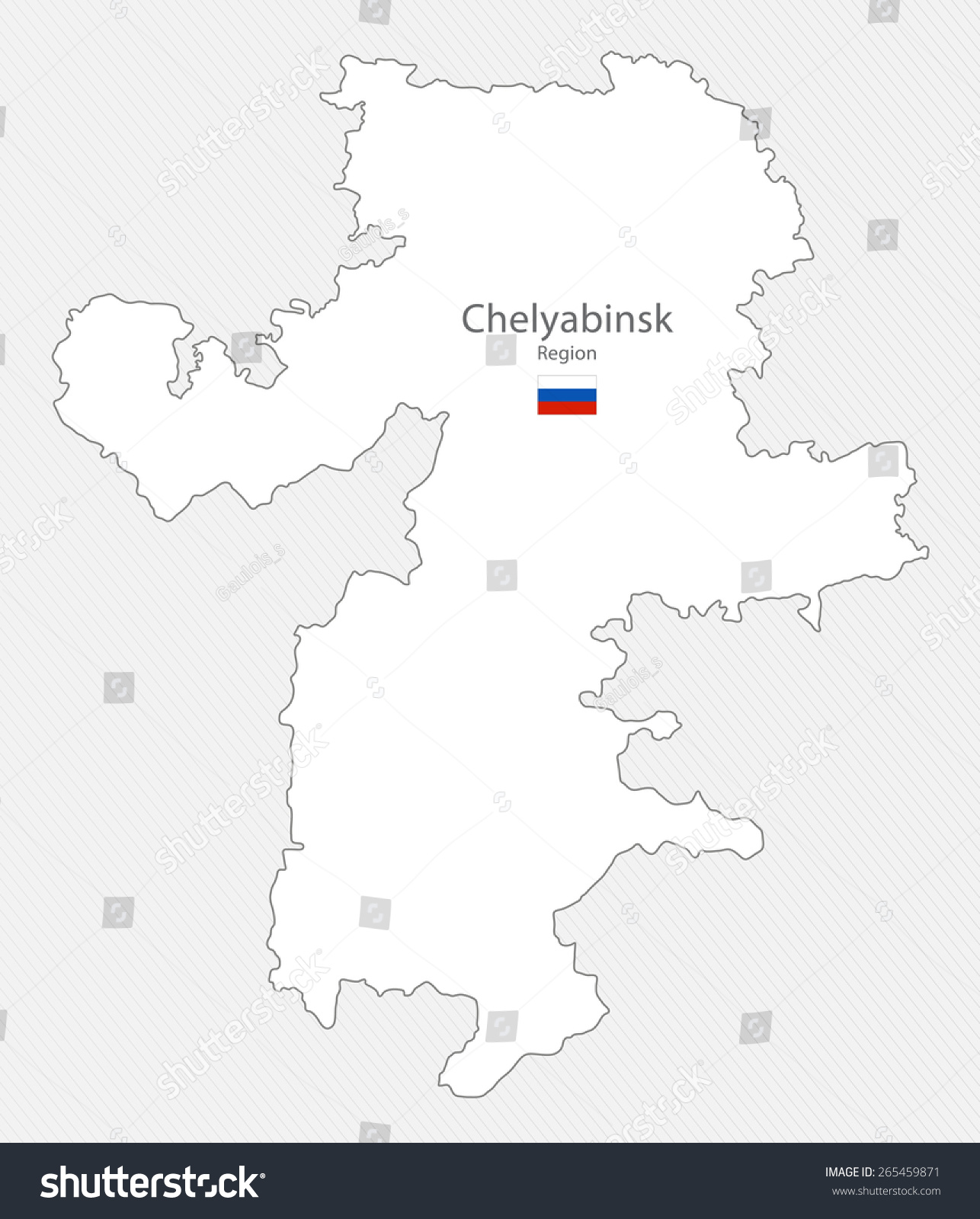 Map Chelyabinsk Region Russia Stock Illustration 265459871