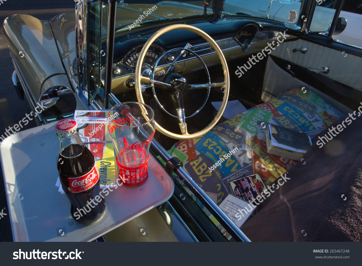 Classic Cars Hot Rods 1950 S Diner Stock Photo (Royalty Free ...