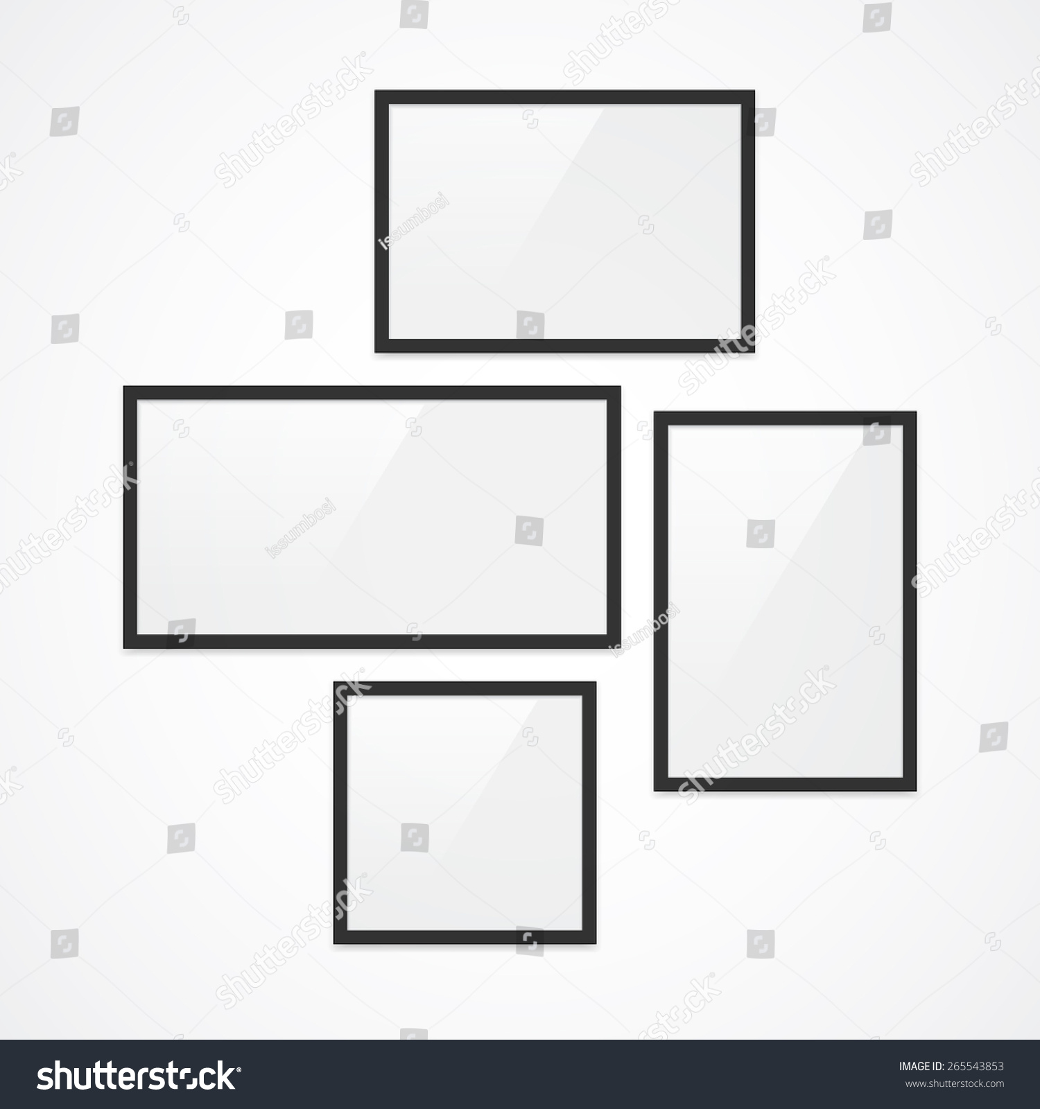 Set High Quality Black Vector Photo Stock Vector (Royalty Free ...