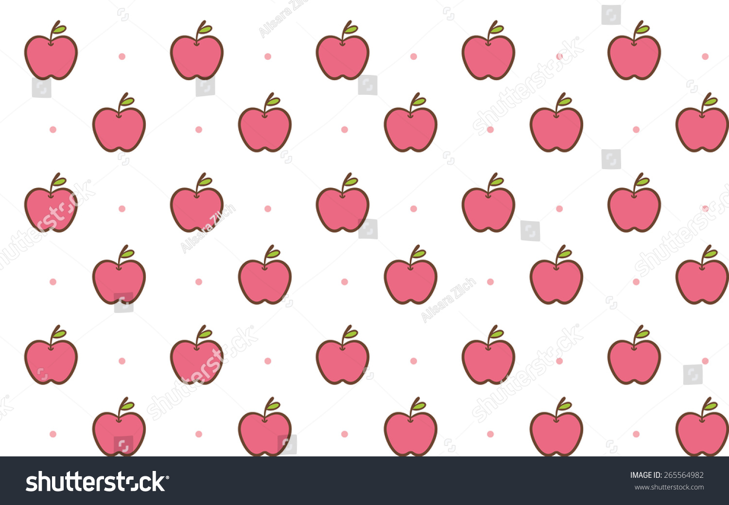 cute apple seamless background pattern vector stock photo (photo