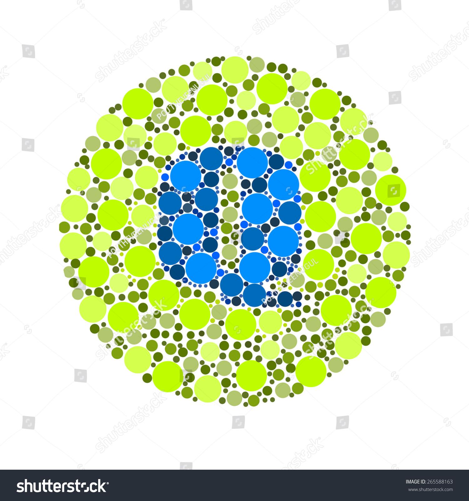 Blind Colour Test Ishihara Test Daltonismcolor Stock Illustration ...