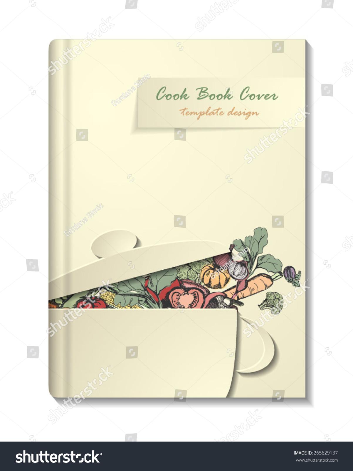 Cookbook Cover Vector ~ Cook book or manu cover template retro minimalistic