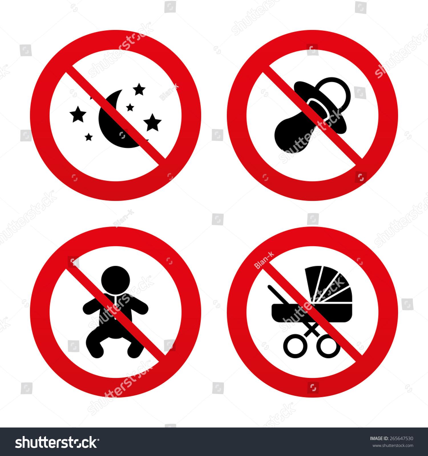 No Ban Stop Signs Moon Stars Stock Vector Royalty Free 265647530