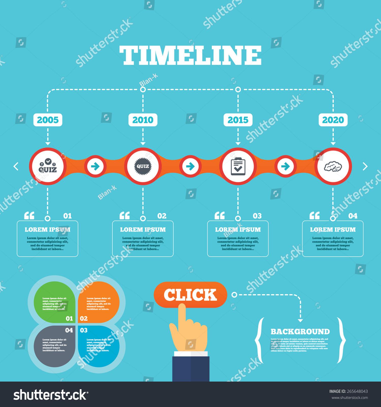 Quotes Quiz Timeline Arrows Quotes Quiz Icons Human Stock Vector 265648043