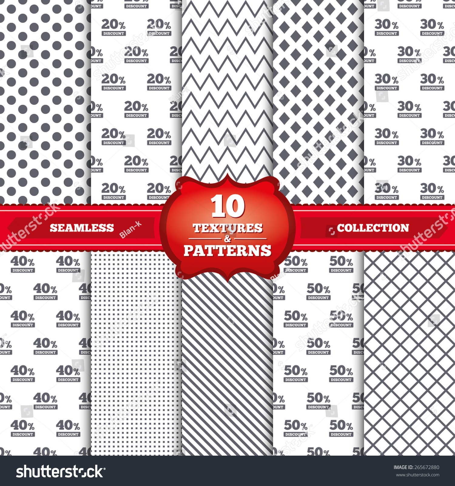 Repeatable patterns textures sale discount icons stock vector repeatable patterns and textures sale discount icons special offer price signs 20 biocorpaavc Choice Image