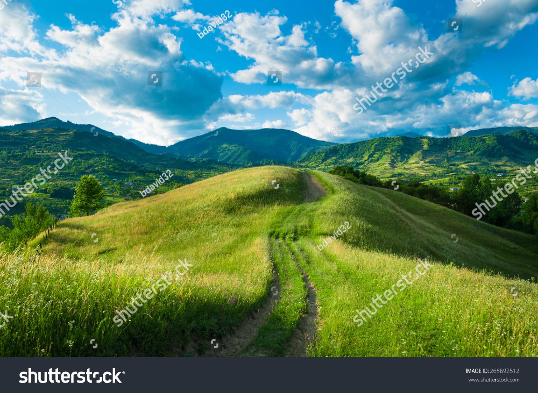 A spring landscape on the hills. #265692512