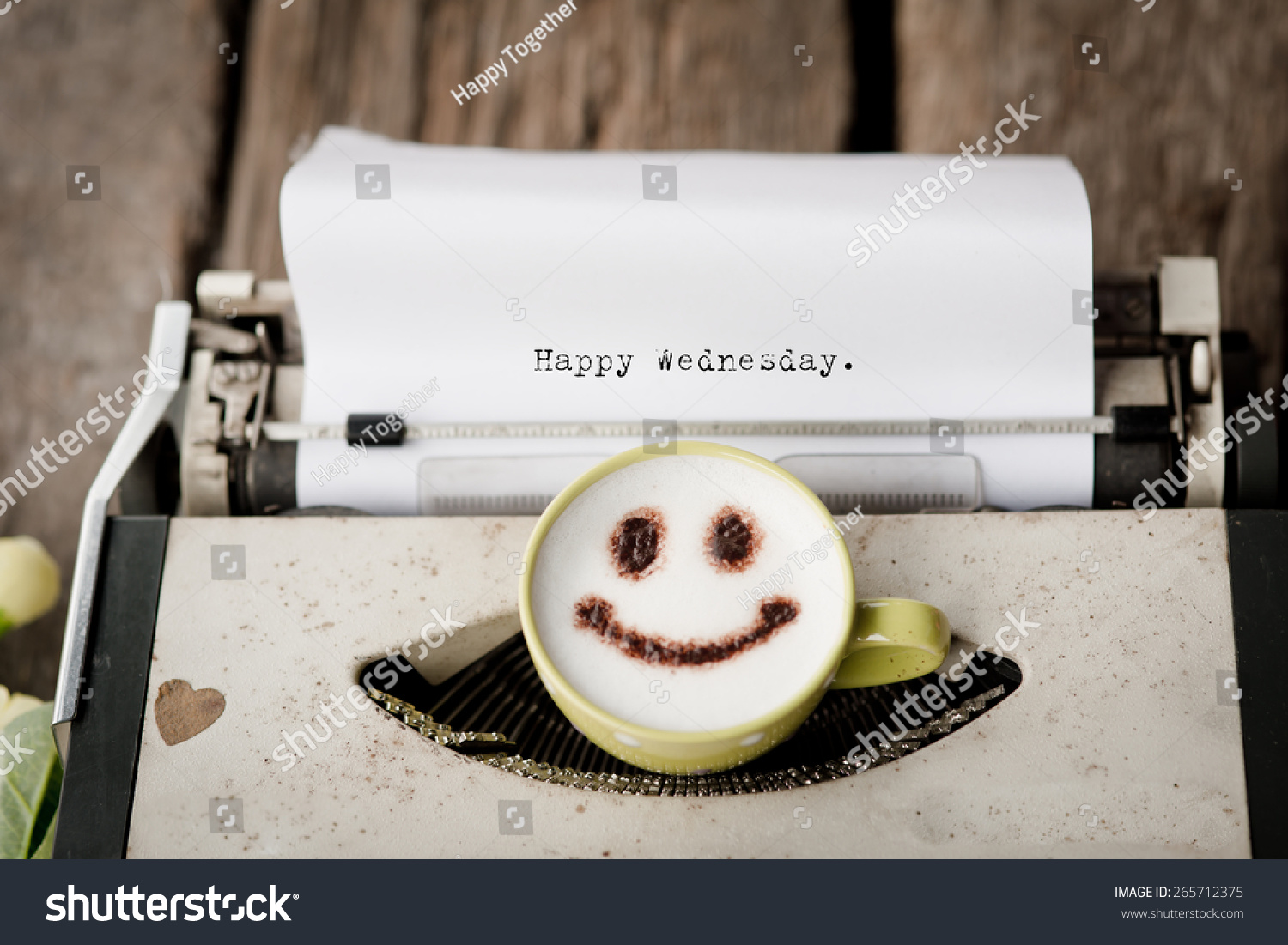 Bildergebnis für Happy Wednesday with typewriter