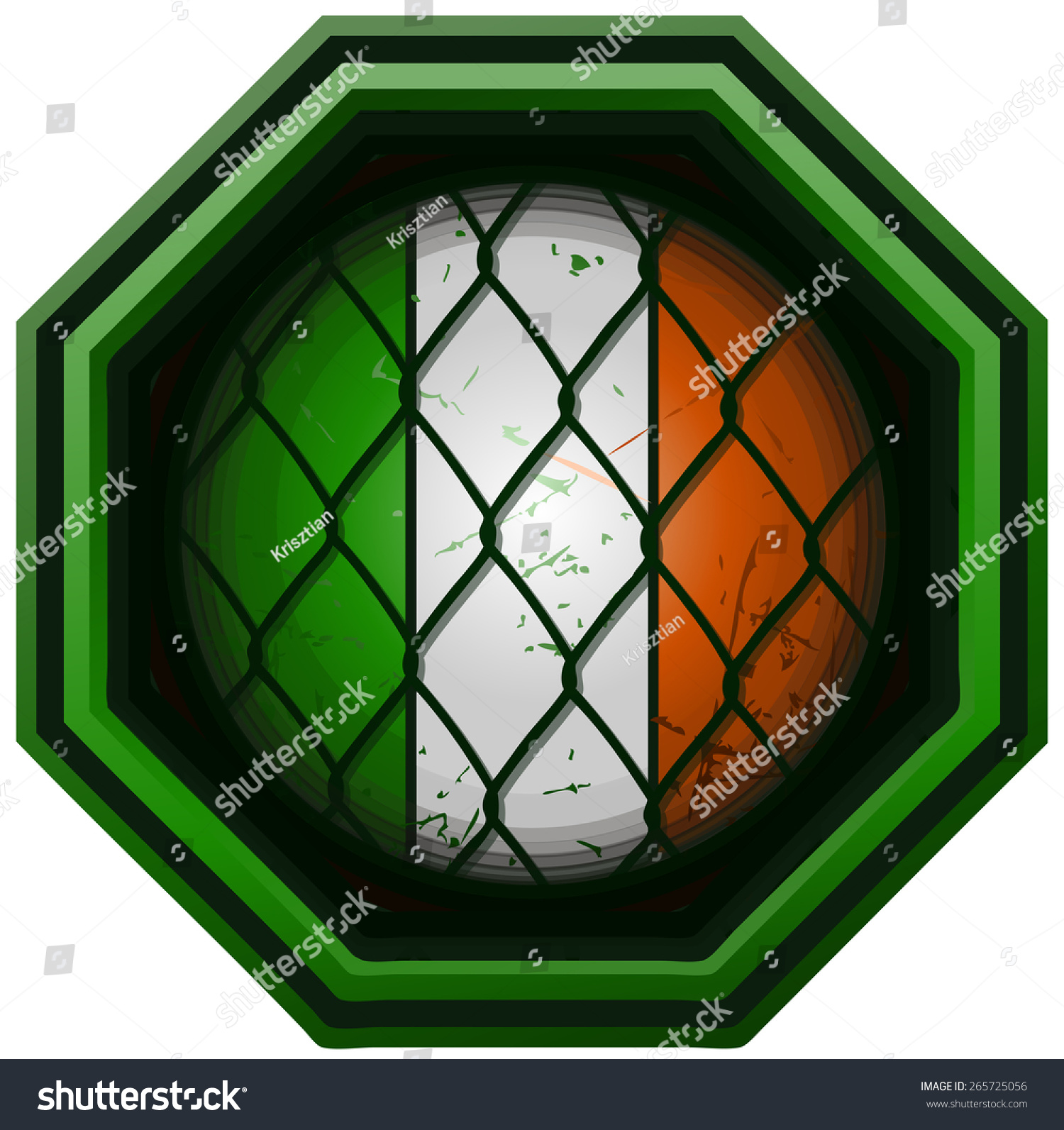 stock-vector-ireland-flag-mma-octagon-si