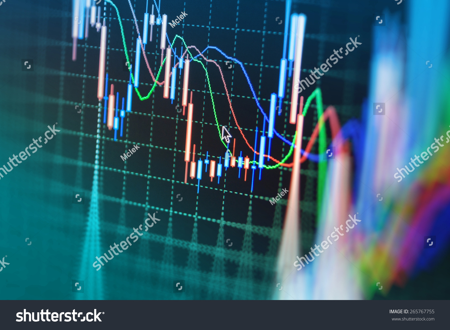 Stock market graph bar chart price stock photo safe to use stock market graph and bar chart price display data on live computer screen display ccuart Images
