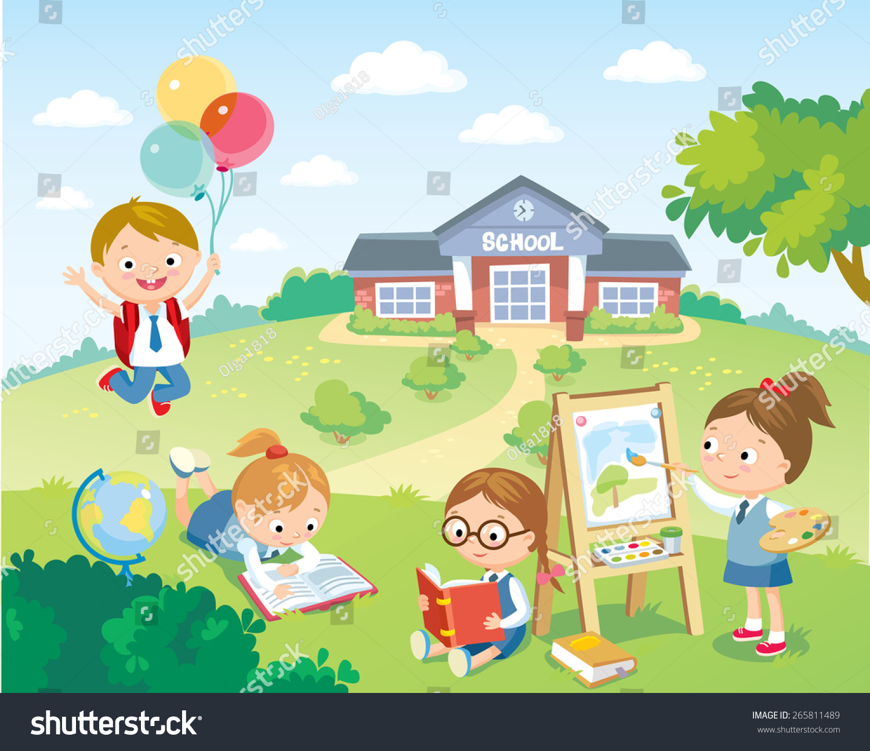 Schoolyard Clip Art